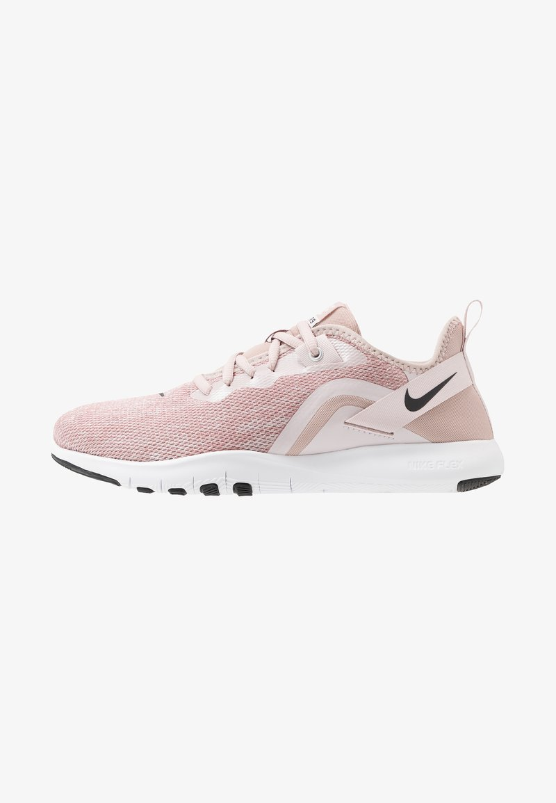 Nike Performance - FLEX TRAINER 9 - Sports shoes - stone mauve/black/barely rose/metallic red bronze/metallic silver/white