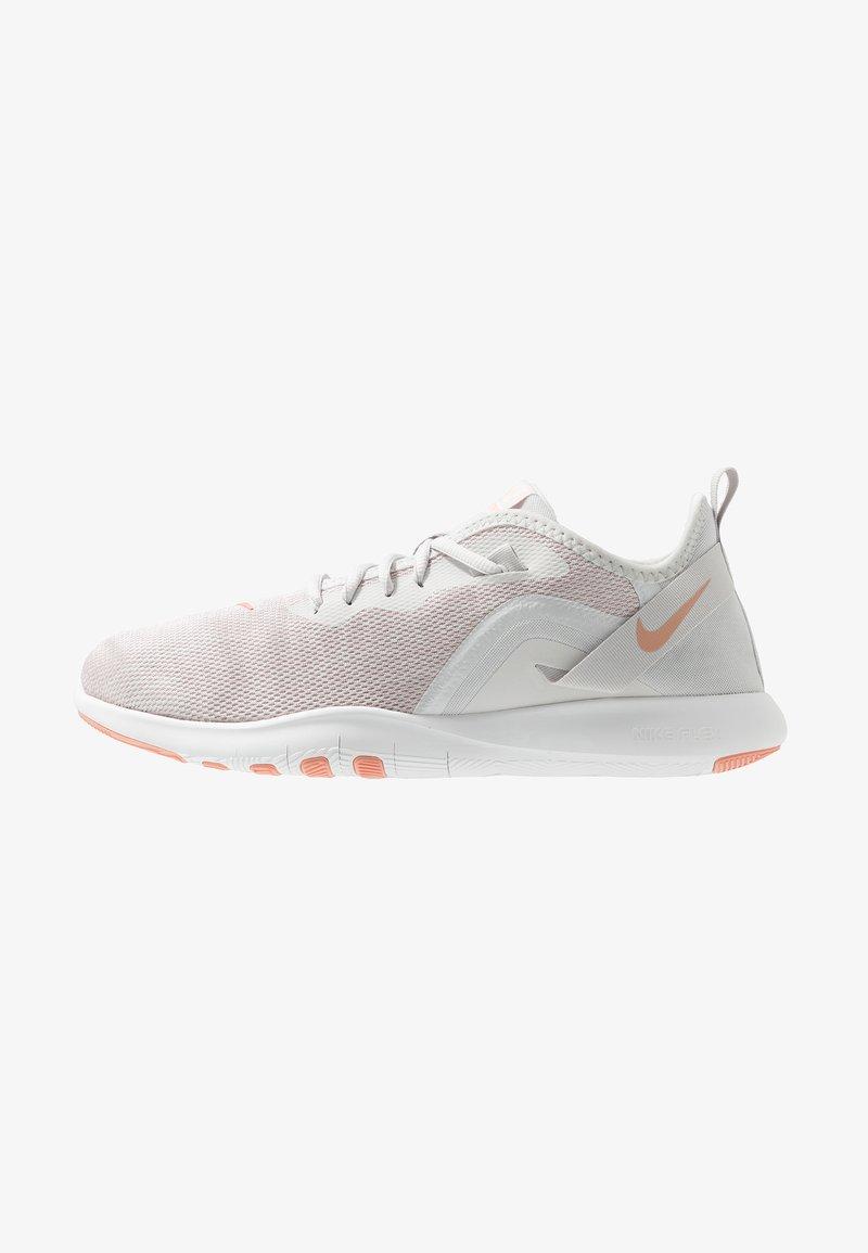 Nike Performance - FLEX TRAINER 9 - Competition running shoes - vast grey/pink quartz/echo pink/white
