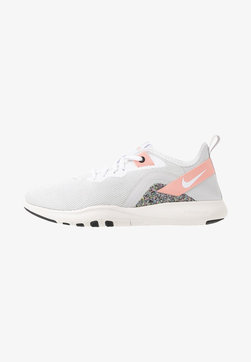 Nike Performance - FLEX TRAINER 9 - Trainings-/Fitnessschuh - vast grey/white/coral stardust/phantom