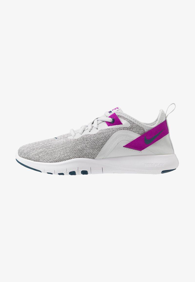 Nike Performance - FLEX TRAINER 9 - Obuwie treningowe - photon dust/valerian blue/vivid purple/light smoke grey/white