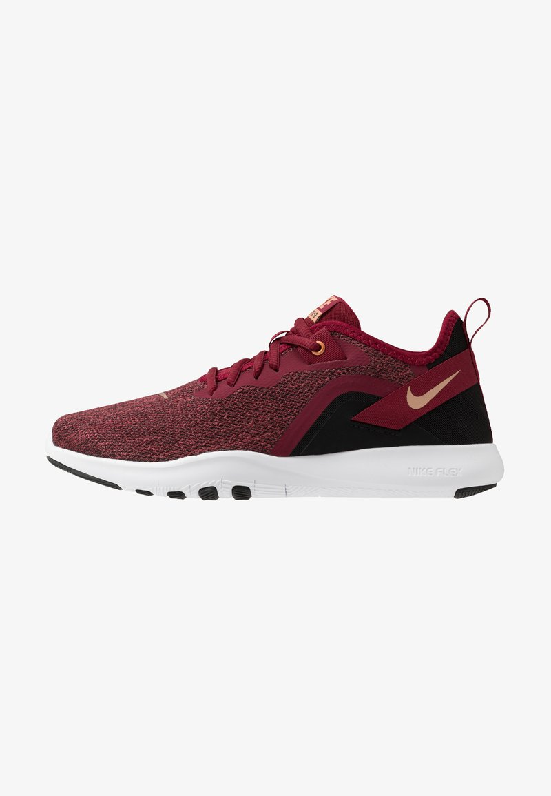 Nike Performance - FLEX TRAINER 9 - Konkurrence løbesko - team red/metallic copper/black/white