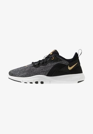 FLEX TRAINER 9 - Sports shoes - black/metallic gold/gunsmoke