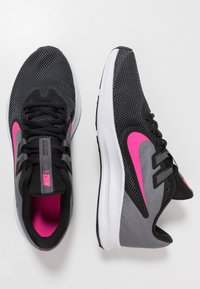 Nike Performance - DOWNSHIFTER  - Neutral running shoes - black/laser fuchsia/dark grey/white - 1