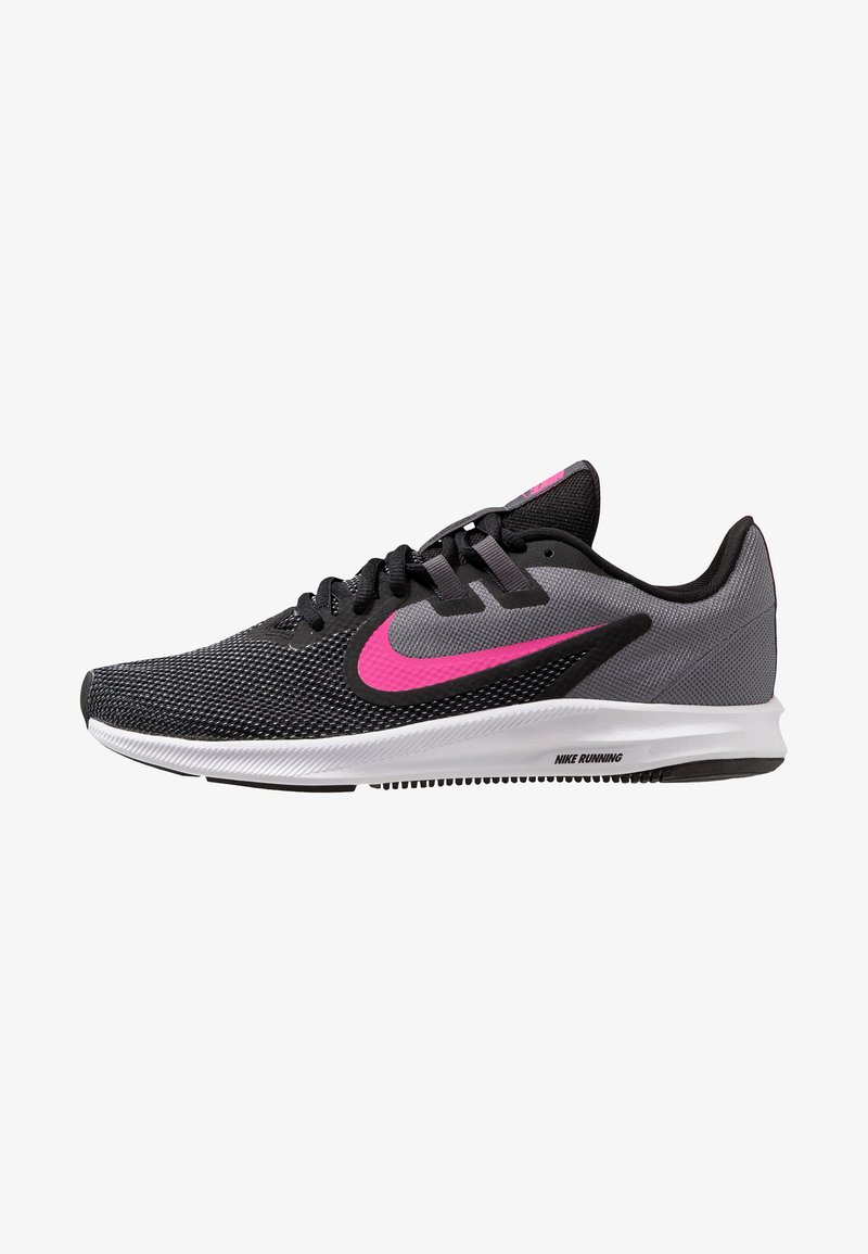 Nike Performance - DOWNSHIFTER  - Neutral running shoes - black/laser fuchsia/dark grey/white