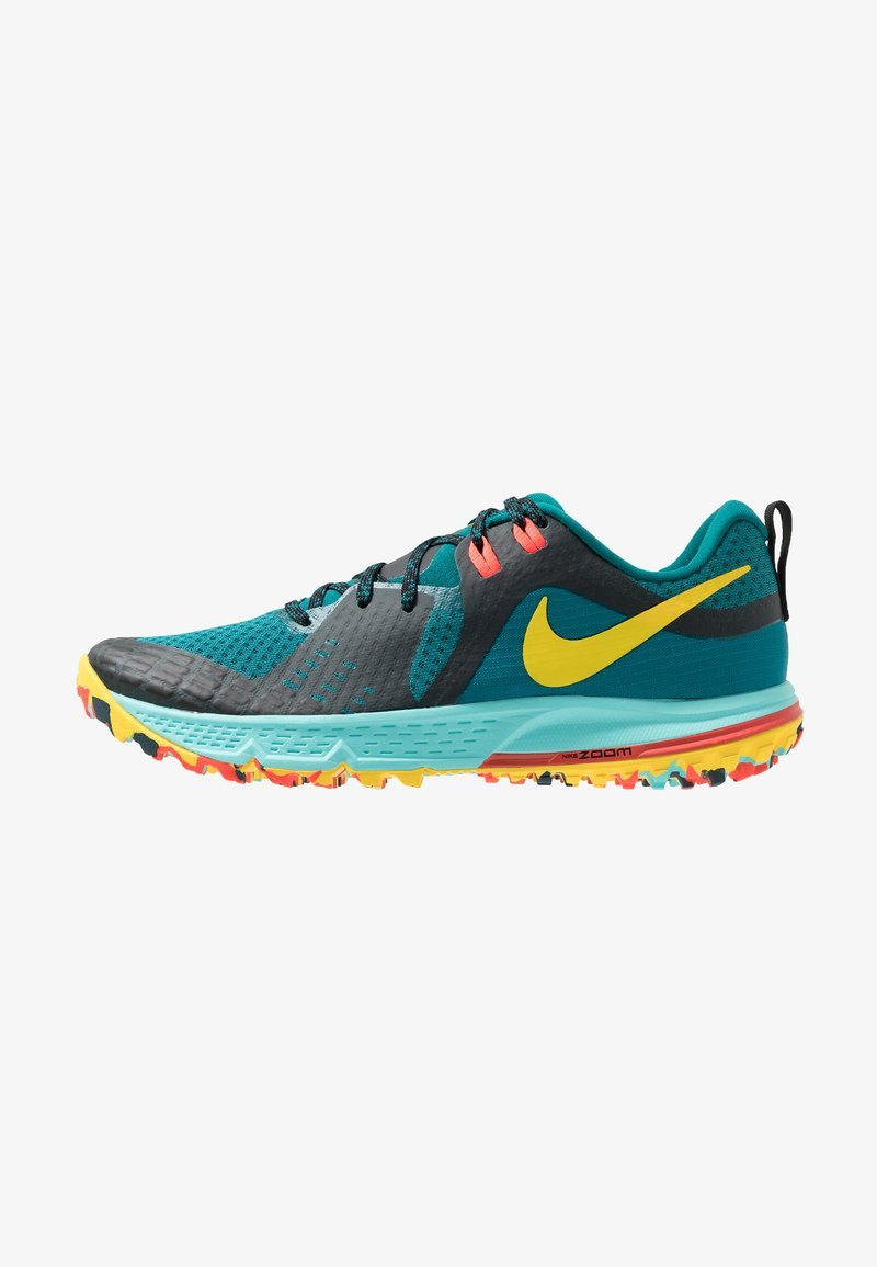 Nike Performance - AIR ZOOM WILDHORSE 5 - Obuwie do biegania Szlak - geode teal/chrome yellow/black/aurora green/bright crimson