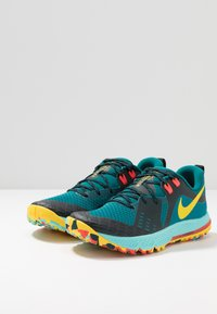 Nike Performance - AIR ZOOM WILDHORSE 5 - Obuwie do biegania Szlak - geode teal/chrome yellow/black/aurora green/bright crimson - 2