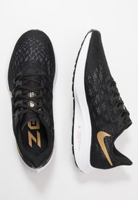 Nike Performance - AIR ZOOM PEGASUS 36 - Løbesko stabilitet - black/metallic gold/university red/white - 1