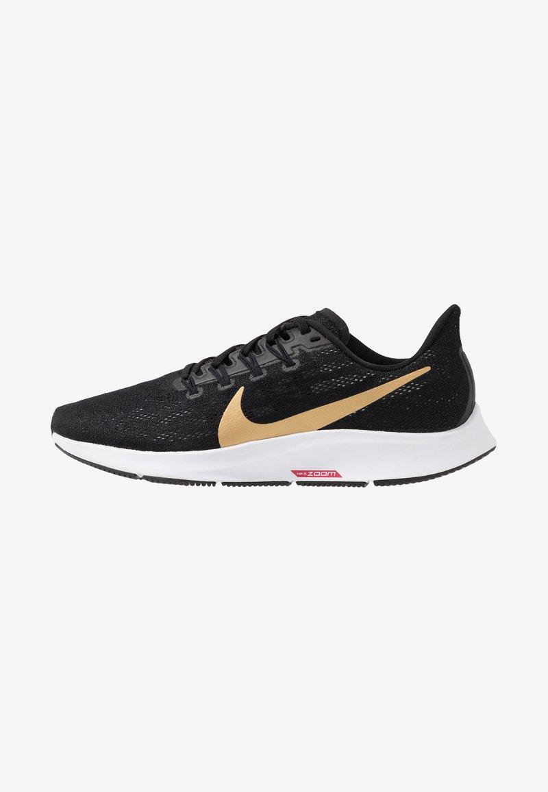 Nike Performance - AIR ZOOM PEGASUS 36 - Løbesko stabilitet - black/metallic gold/university red/white
