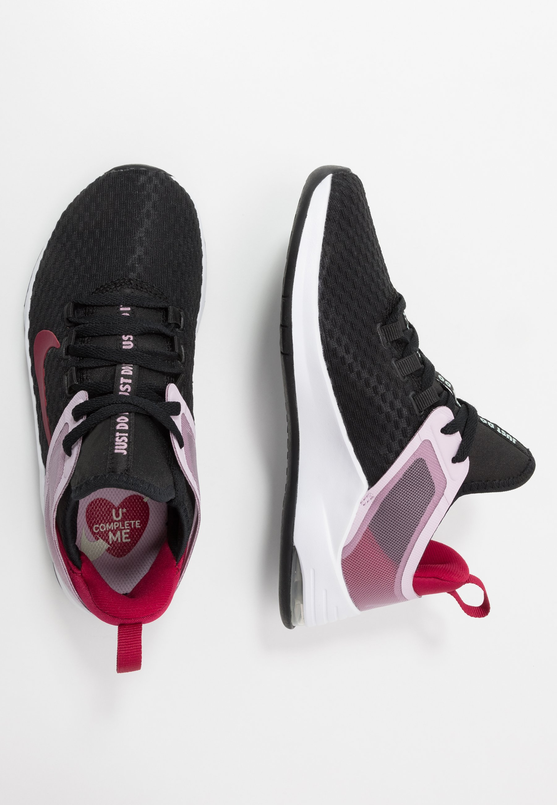 Nike Performance AIR MAX BELLA TR 2 - Obuwie treningowe - black/noble red/iced lilac/pistachio frost/white