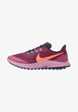 AIR ZOOM PEGASUS 36 TRAIL - Zapatillas de trail running - villain red/total crimson/blackened blue/frosted plum/mulberry rose/digital pink