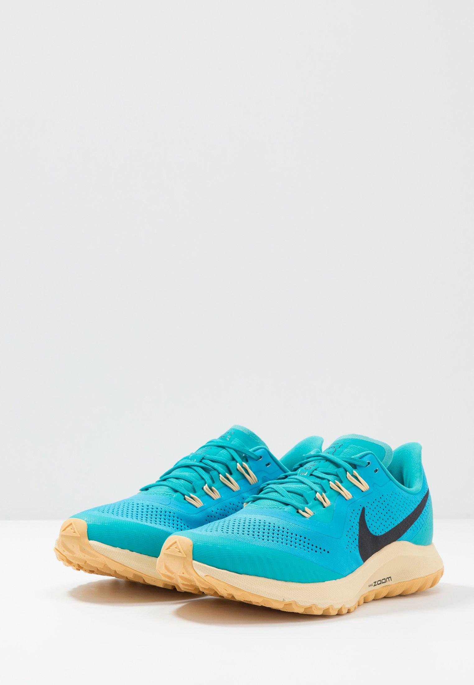 Nike Performance AIR ZOOM PEGASUS 36 TRAIL - Løbesko trail - light current blue/oil grey/teal