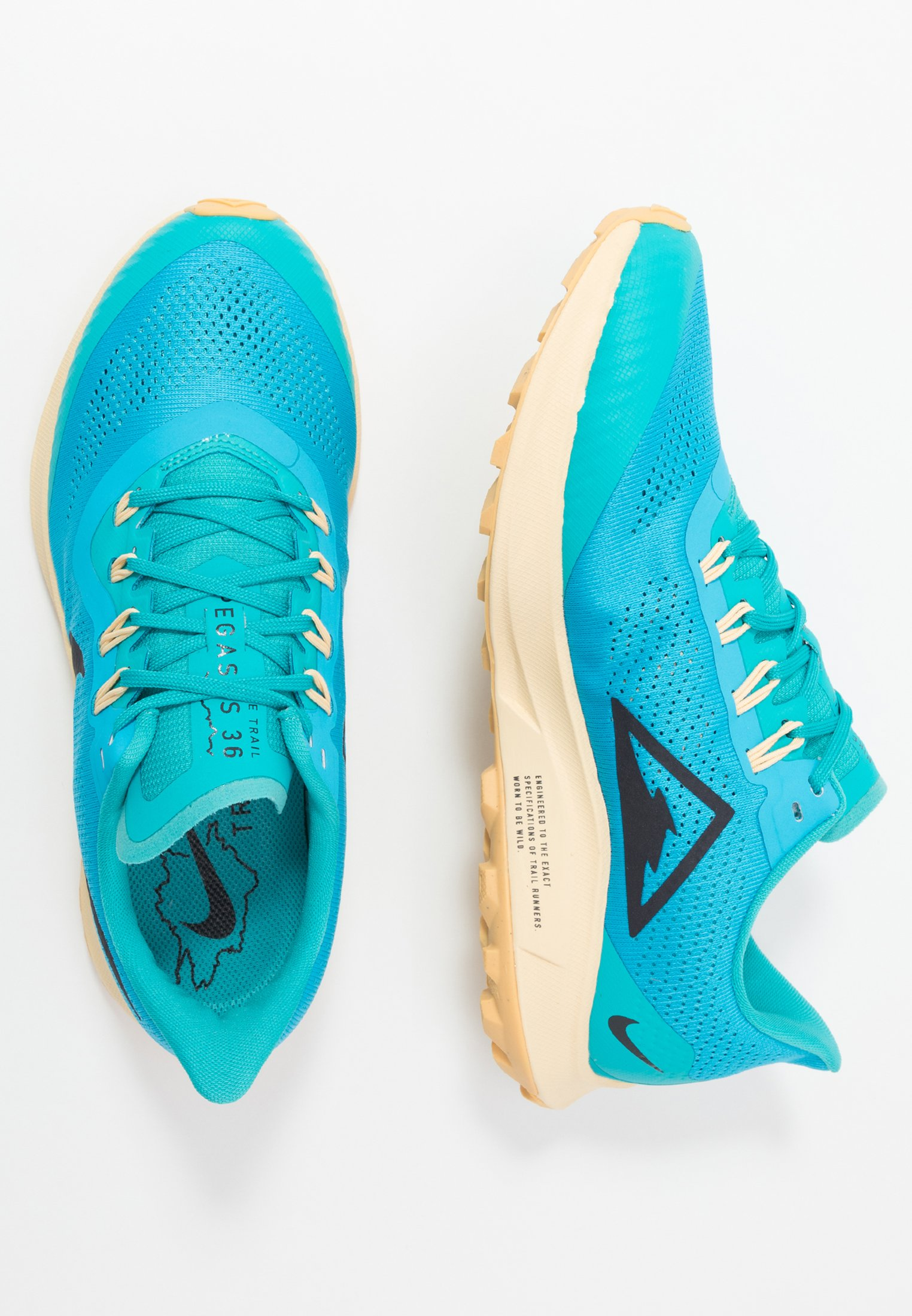 AIR ZOOM PEGASUS 36 TRAIL Løpesko for mark light current blueoil greyteal