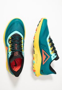 Nike Performance - AIR ZOOM PEGASUS 36 TRAIL - Zapatillas de trail running - geode teal/bright crimson/black/chrome yellow/aurora green - 1
