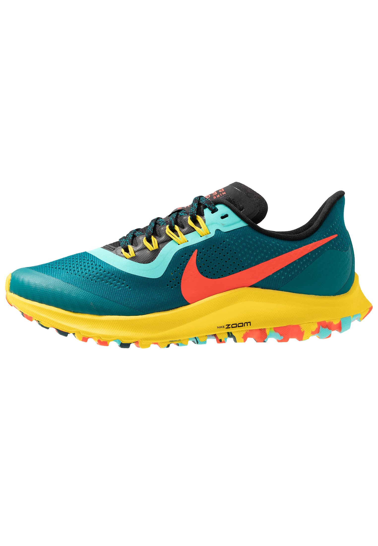 AIR ZOOM PEGASUS 36 TRAIL Scarpe da trail running geode tealbright crimsonblackchrome yellowaurora green