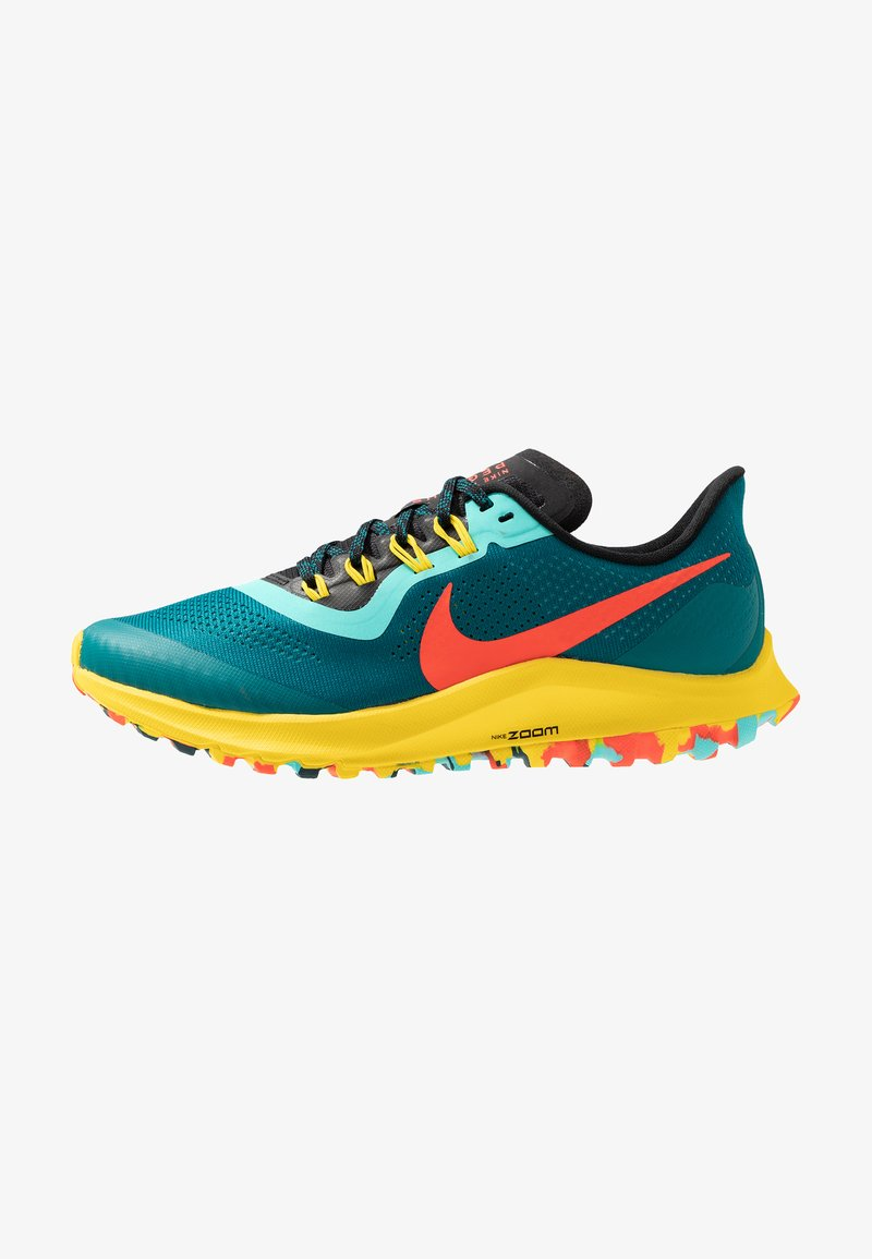 Nike Performance - AIR ZOOM PEGASUS 36 TRAIL - Laufschuh Trail - geode teal/bright crimson/black/chrome yellow/aurora green