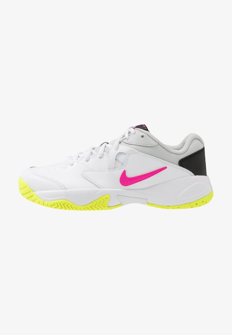 Nike Performance - COURT LITE 2 - Multicourt tennis shoes - white/laser fuchsia/hot lime/grey fog