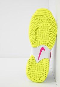 Nike Performance - COURT LITE 2 - Multicourt tennis shoes - white/laser fuchsia/hot lime/grey fog - 4