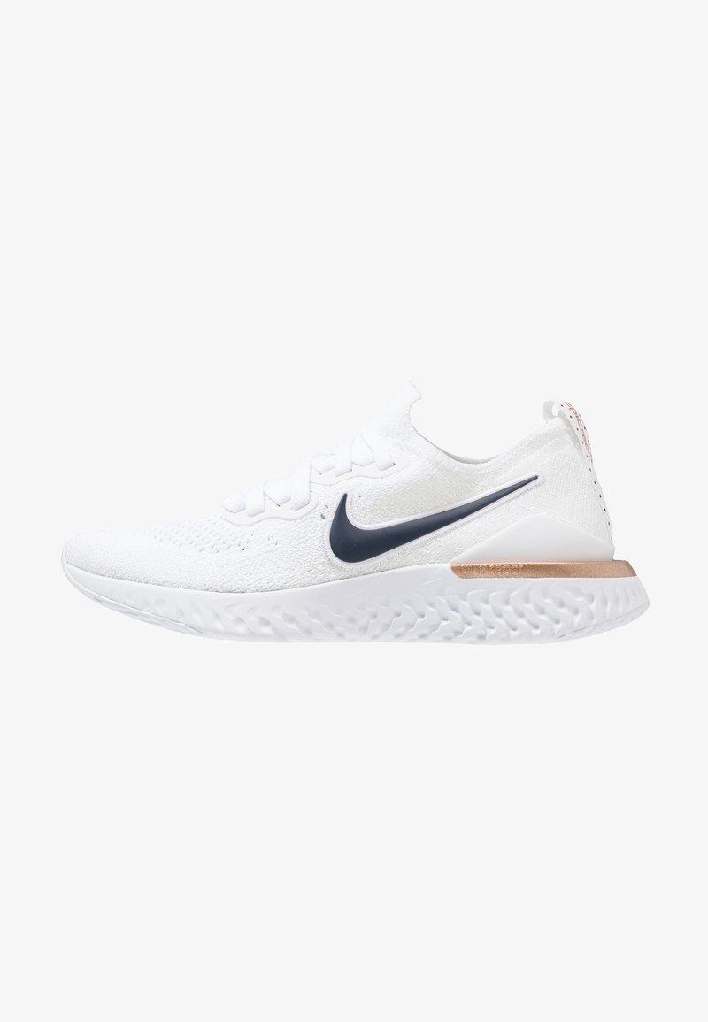 Nike Performance - EPIC REACT FLYKNIT 2 - Neutrale løbesko - white/midnight navy/rose gold