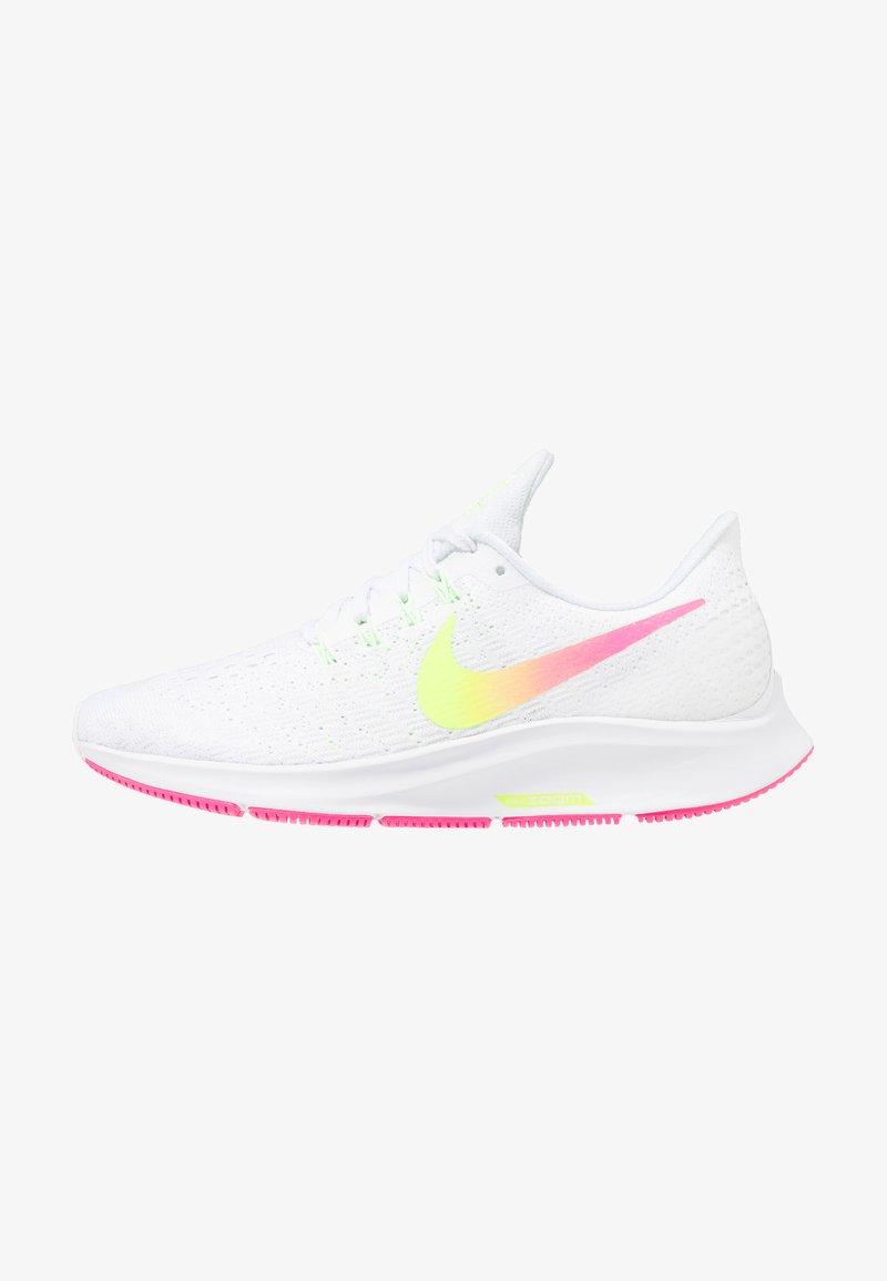 Nike Performance - AIR ZOOM PEGASUS 35 - Obuwie do biegania treningowe - white/hyper pink/volt/pure platinum