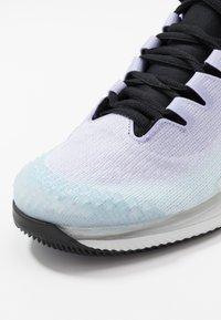 Nike Performance - AIR ZOOM VAPOR X - Chaussures de tennis toutes surfaces - pure platinum/black/purple agate/topaz mist - 5