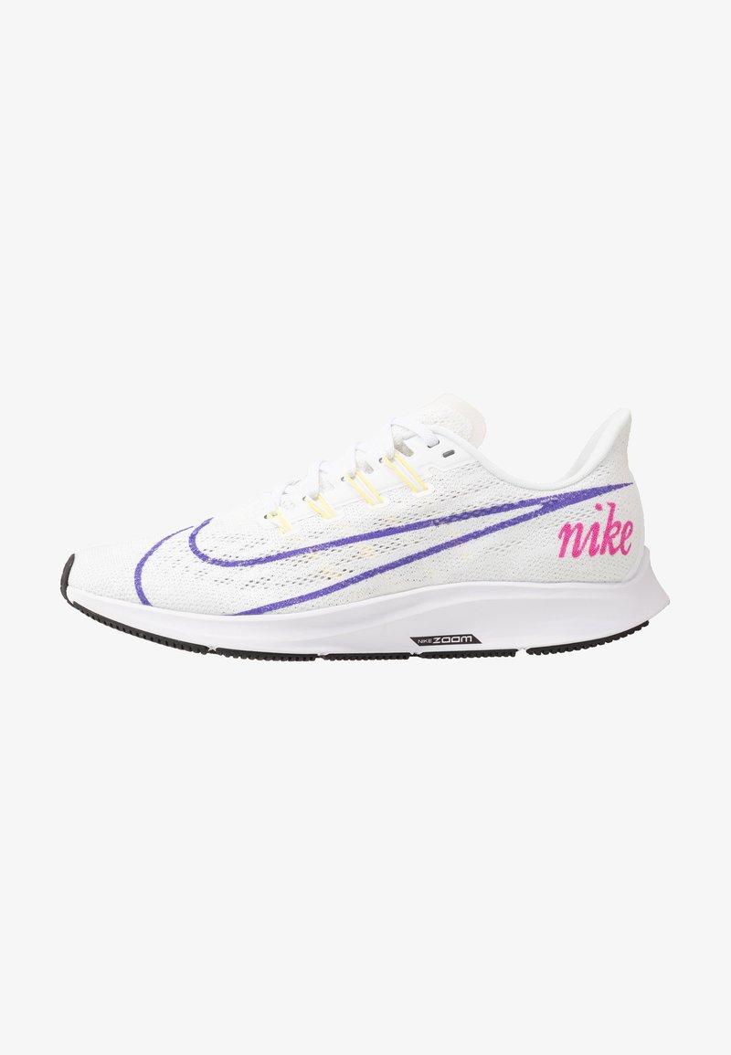 Nike Performance - AIR ZOOM PEGASUS 36 JDI - Hardloopschoenen neutraal - white/psychic purple/summit white/laser fuchsia/yellow pulse/black