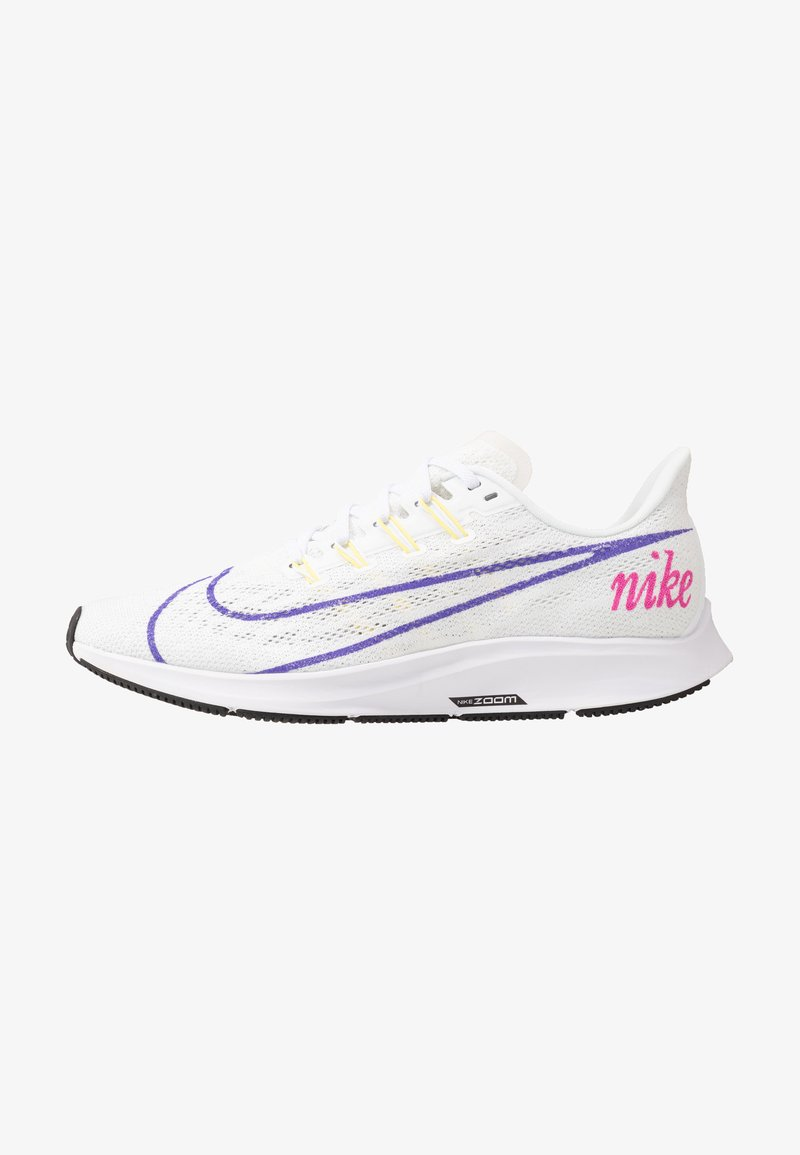 Nike Performance - AIR ZOOM PEGASUS 36 JDI - Neutral running shoes - white/psychic purple/summit white/laser fuchsia/yellow pulse/black