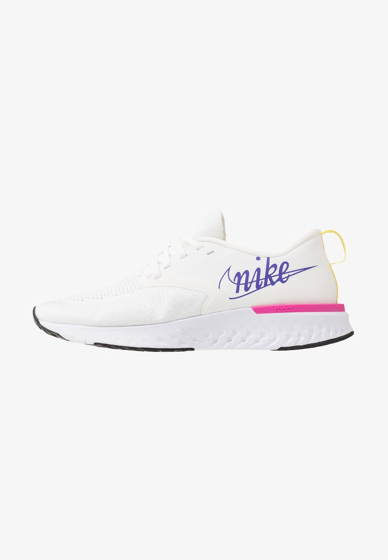 Nike Performance - ODYSSEY REACT 2 FK JDI - Neutral running shoes - summit white/psychic purple/laser fuchsia/yellow pulse/white
