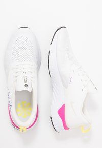 Nike Performance - ODYSSEY REACT 2 FK JDI - Neutral running shoes - summit white/psychic purple/laser fuchsia/yellow pulse/white - 1