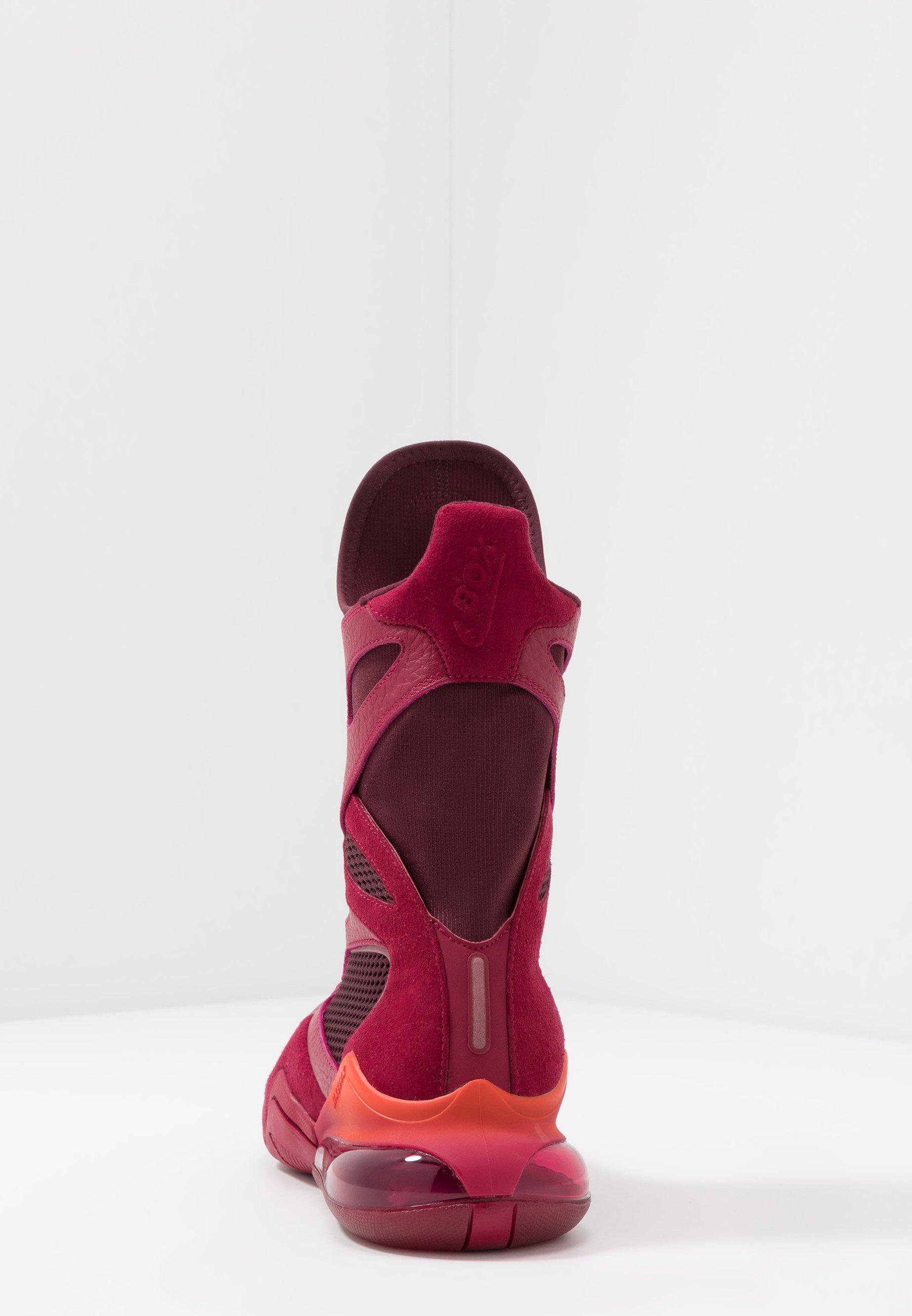 Nike Performance AIR MAX BOX - Obuwie treningowe - noble red/night maroon/team orange