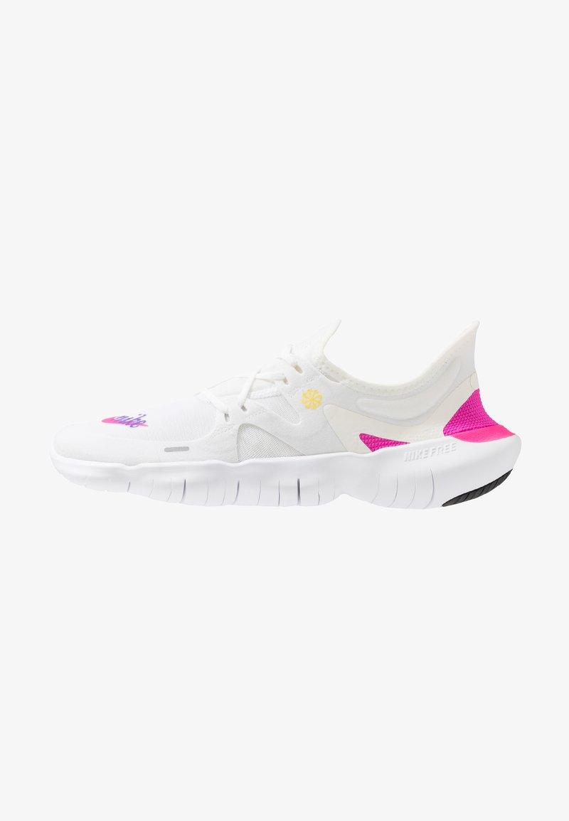 Nike Performance - FREE RN 5.0  - Zapatillas running neutras - white/laser fuchsia/summit white/psychic purple/yellow pulse/black
