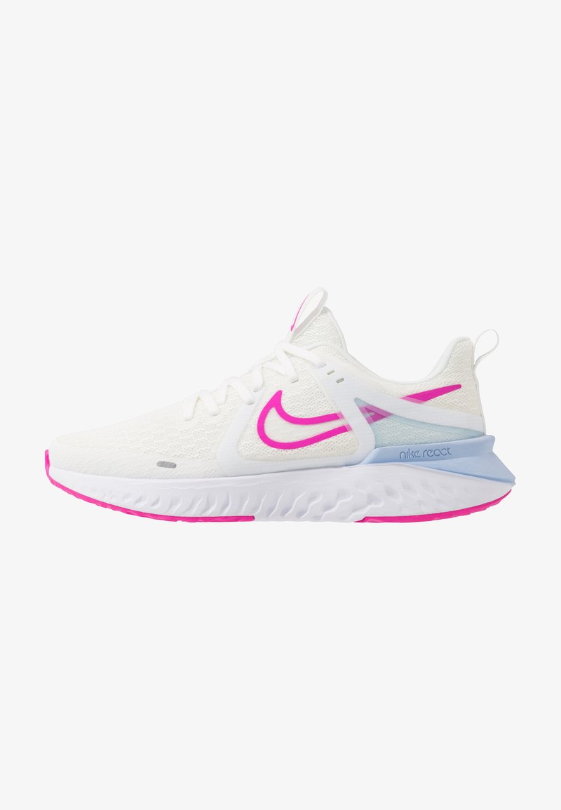 Nike Performance - LEGEND REACT 2 - Neutral running shoes - summit white/fire pink/hydrogen blue