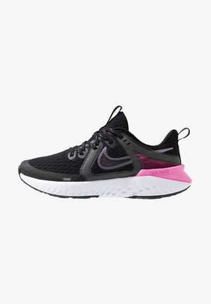 LEGEND REACT 2 - Neutral running shoes - black/cool grey/psychic pink/white