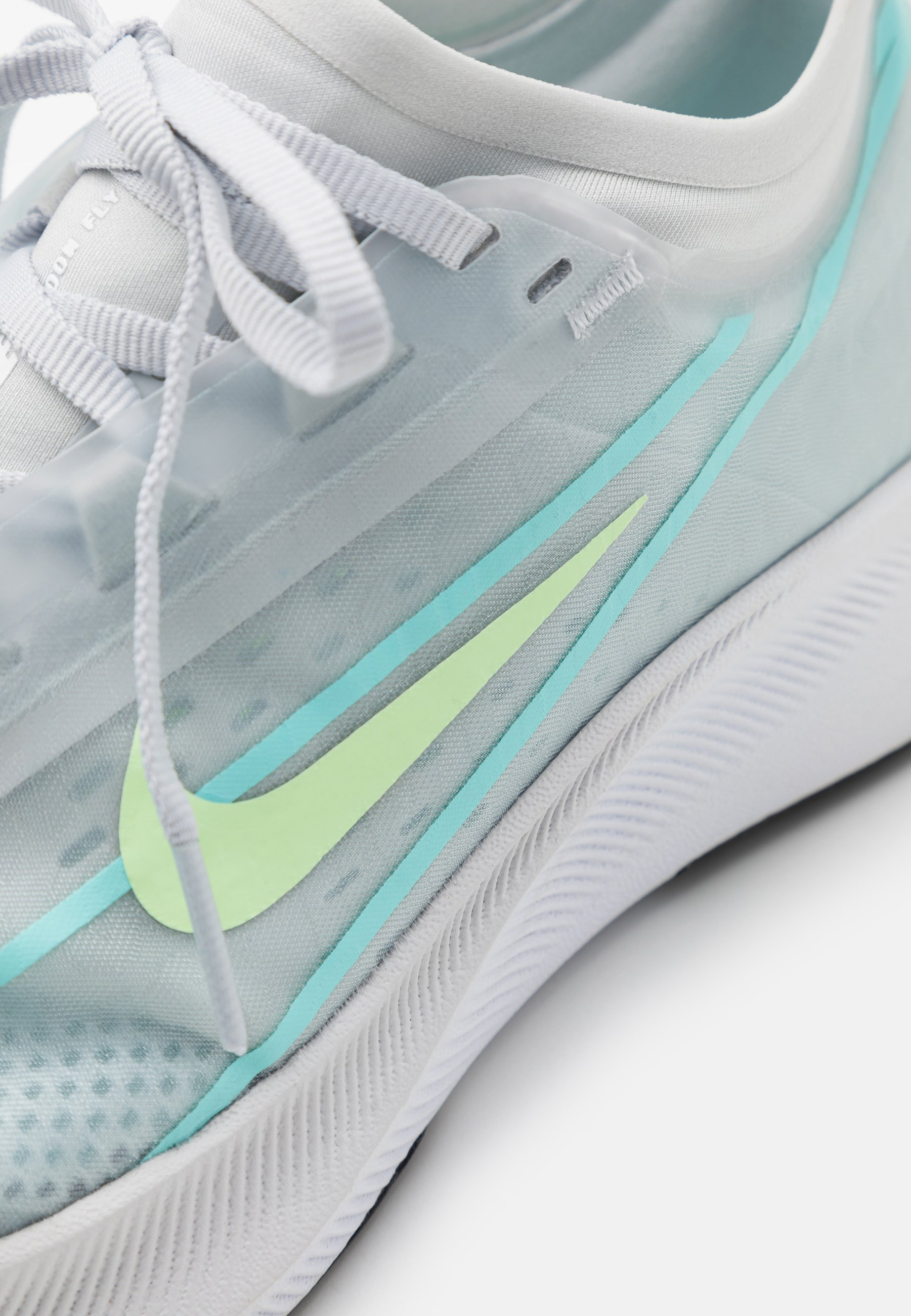 Nike Performance ZOOM FLY 3 - Laufschuh Neutral - pure platinum/barely volt/glacier ice Yxc8Ll