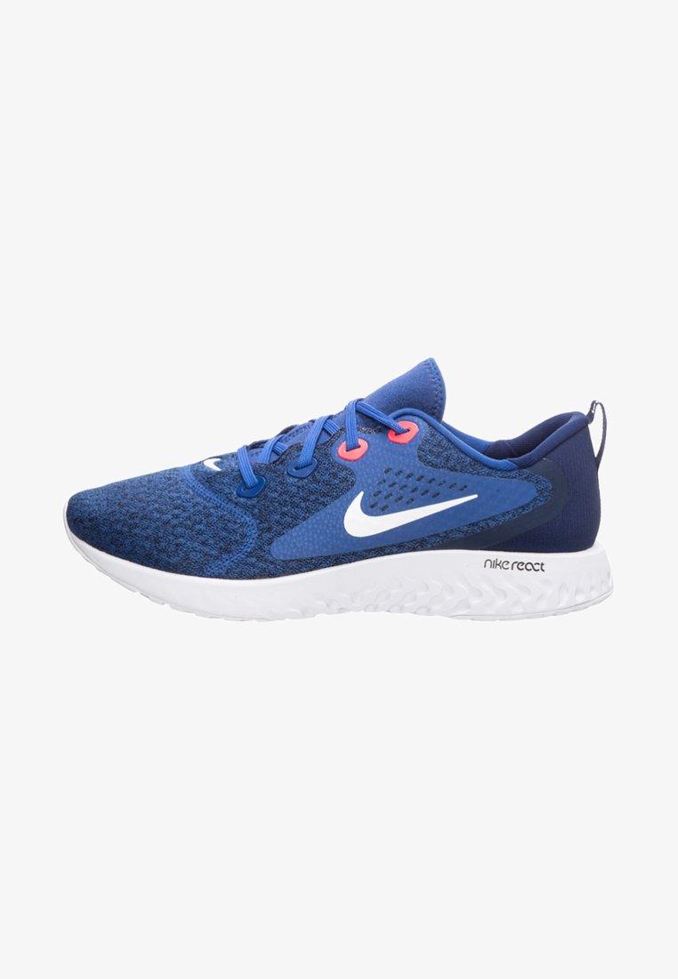 Nike Performance - LEGEND REACT - Laufschuh Neutral - indigo force / white / blue void / red orbit