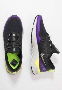 Nike Performance - ODYSSEY REACT  SHIELD - Neutral running shoes - black/metallic silver/voltage purple - 1