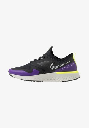 ODYSSEY REACT  SHIELD - Neutral running shoes - black/metallic silver/voltage purple