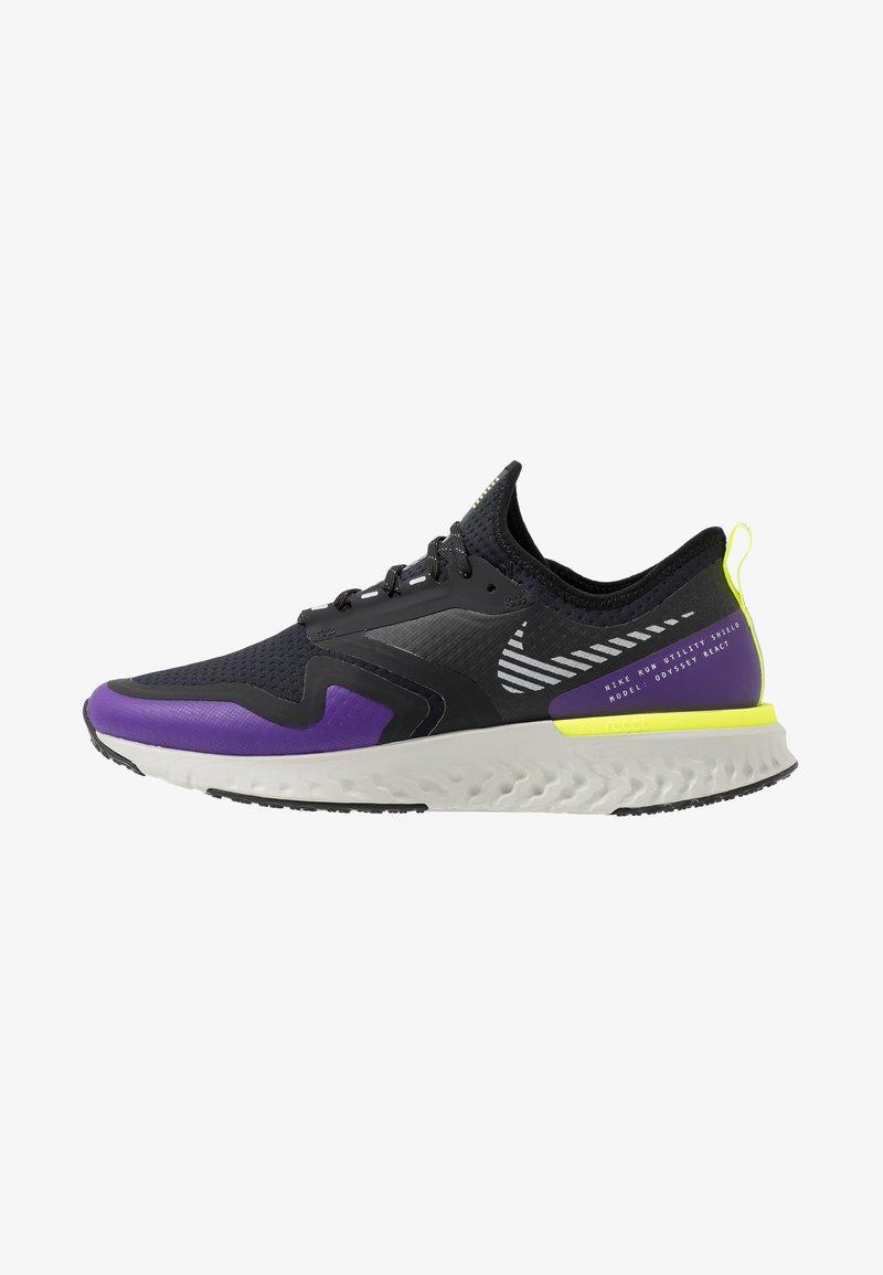 Nike Performance - ODYSSEY REACT  SHIELD - Neutral running shoes - black/metallic silver/voltage purple