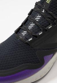 Nike Performance - ODYSSEY REACT  SHIELD - Neutral running shoes - black/metallic silver/voltage purple - 5