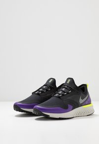 Nike Performance - ODYSSEY REACT  SHIELD - Neutral running shoes - black/metallic silver/voltage purple - 2