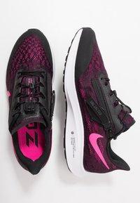 Nike Performance - AIR ZM PEGASUS 36 FLYEASE WD - Obuwie do biegania treningowe - black/pink blast/true berry/white - 1
