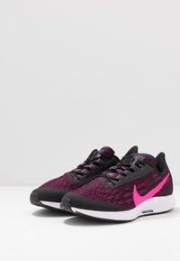 Nike Performance - AIR ZM PEGASUS 36 FLYEASE WD - Obuwie do biegania treningowe - black/pink blast/true berry/white - 2