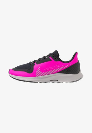 AIR ZOOM PEGASUS 36 SHIELD - Neutral running shoes - fire pink/silver/black/atmosphere grey