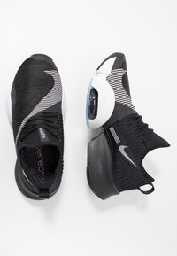 Nike Performance - AIR ZOOM SUPERREP - Sports shoes - black/white/anthracite - 1
