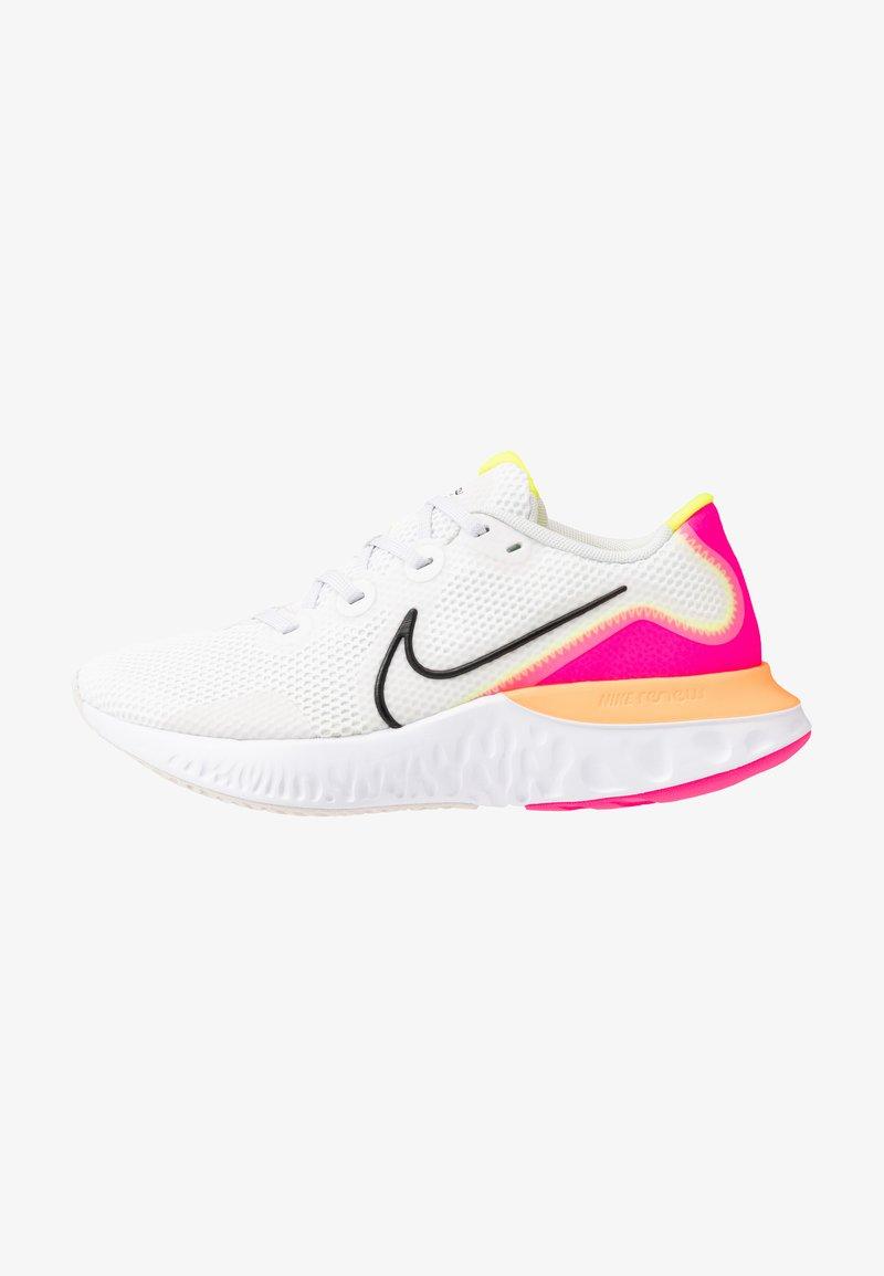 Nike Performance - RENEW RUN - Juoksukenkä/neutraalit - platinum tint/black/white/pink blast/lemon/total orange