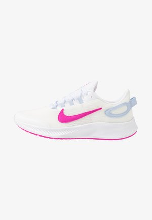 RUNALLDAY 2 - Obuwie do biegania treningowe - summit white/fire pink/hydrogen blue