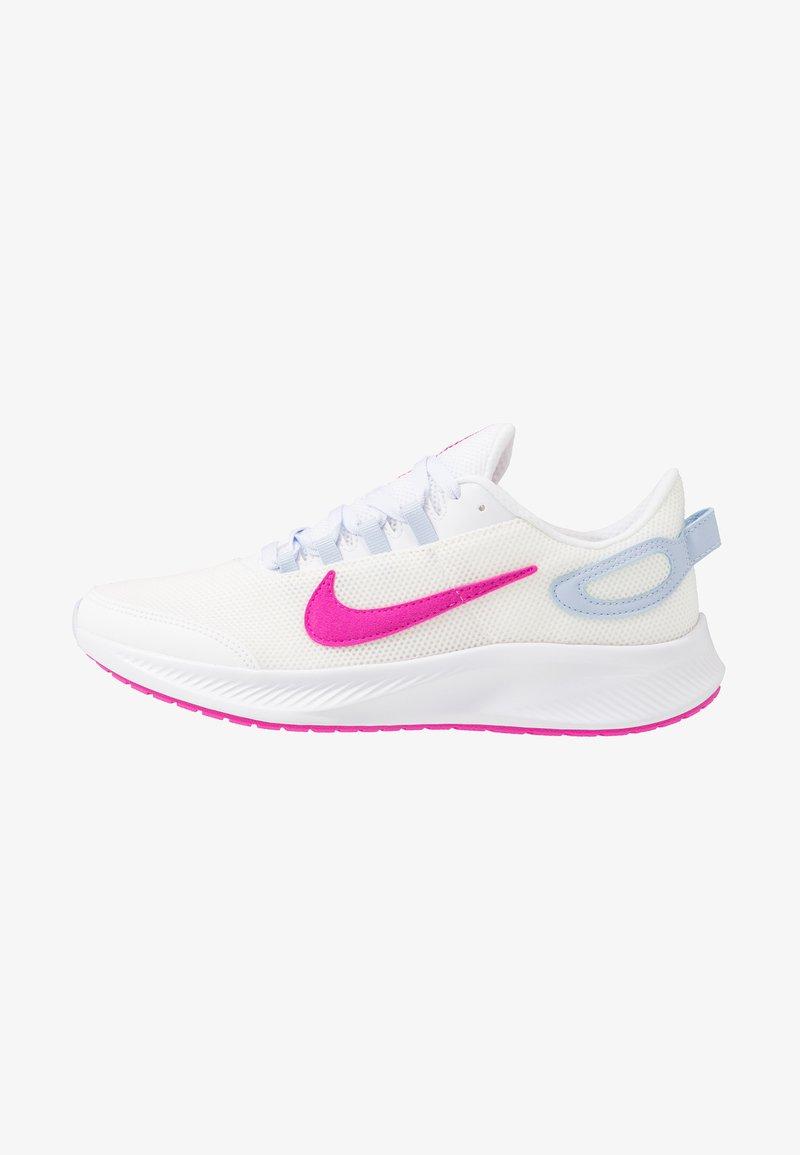 Nike Performance - RUNALLDAY 2 - Obuwie do biegania treningowe - summit white/fire pink/hydrogen blue