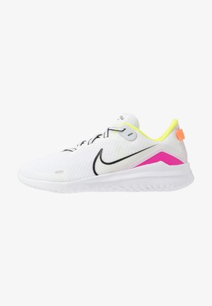 NIKE RENEW RIDE DAMEN-LAUFSCHUH - Obuwie do biegania Stabilność - white/black/pink blast/total orange/lemon/platinum tint