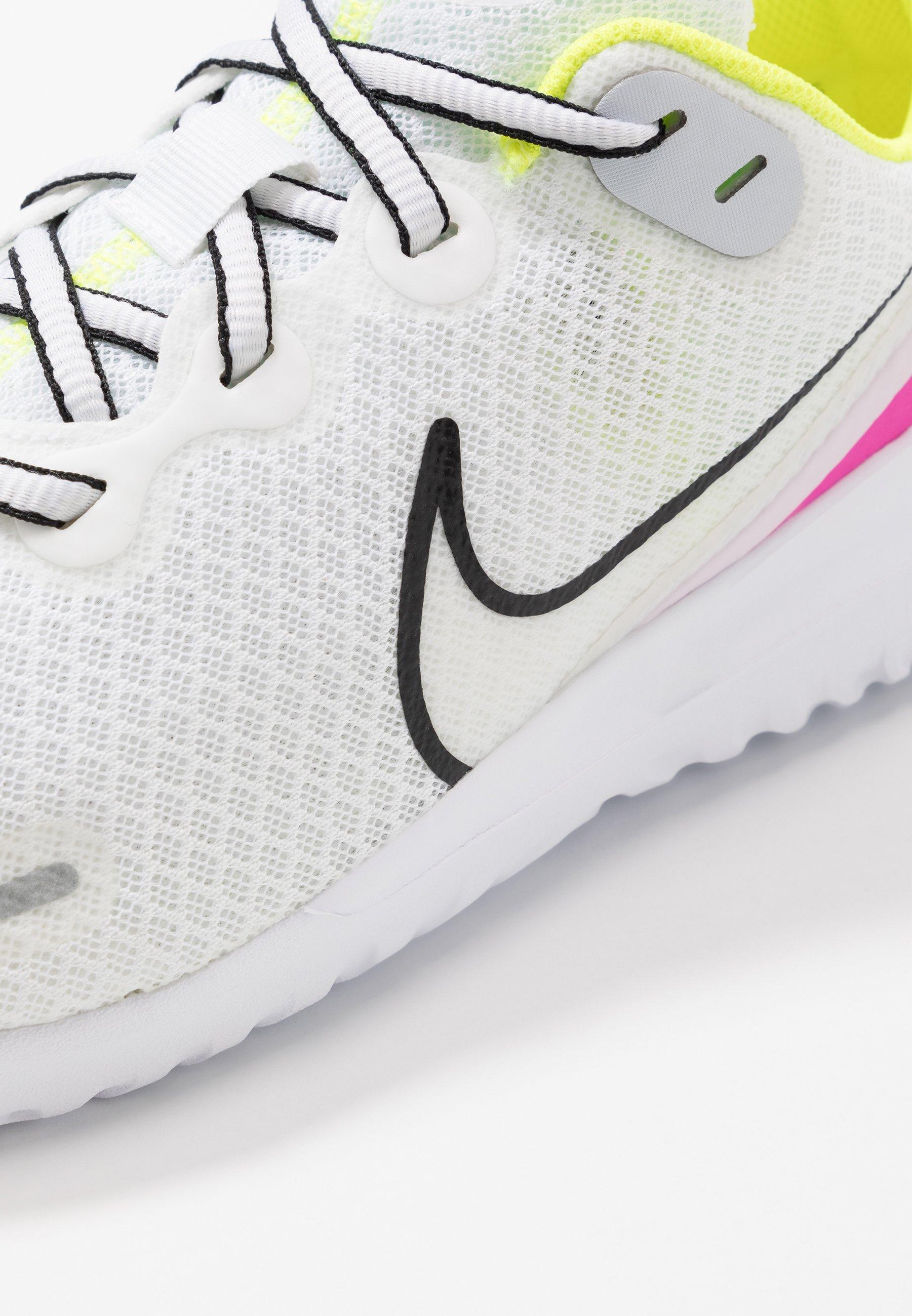 Nike Performance RENEW RIDE - Obuwie do biegania treningowe - white/black/pink blast/total orange/lemon/platinum tint