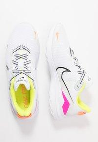 Nike Performance - RENEW RIDE  - Obuwie do biegania treningowe - white/black/pink blast/total orange/lemon/platinum tint - 1