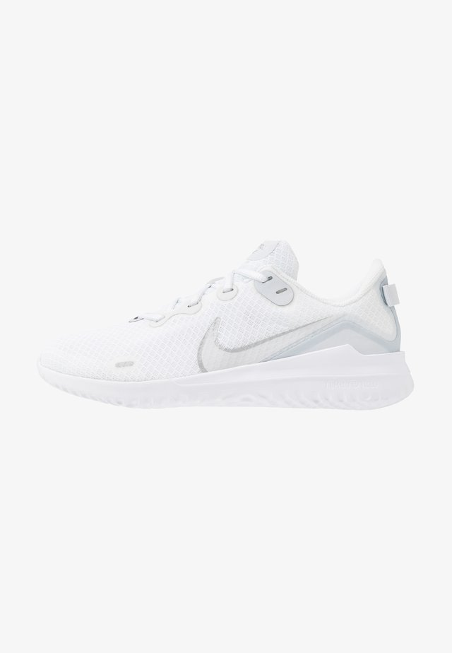 NIKE RENEW RIDE DAMEN-LAUFSCHUH - Chaussures de running stables - white/metallic silver/pure platinum